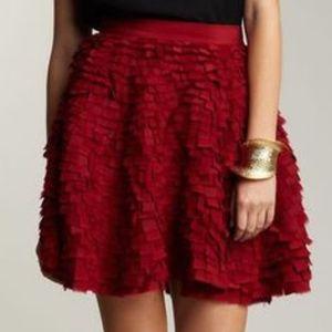 Adam Lippes Skirts - Adam Lippes Frayed Silk Circle Skirt